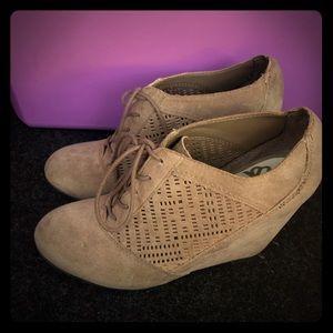 Clarks Originals Peggy Bee Wedge Schwarz Damen Schuhe